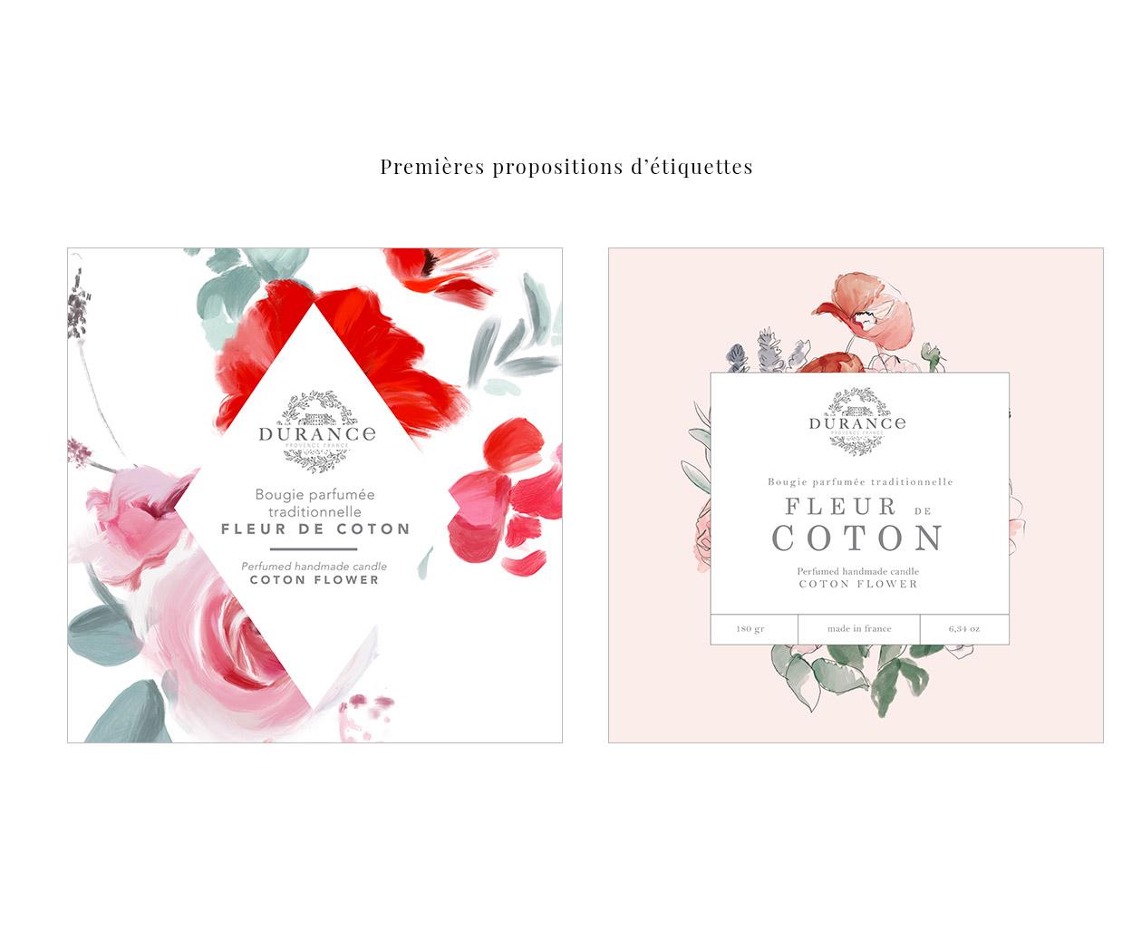 Proposition étiquettes packaging