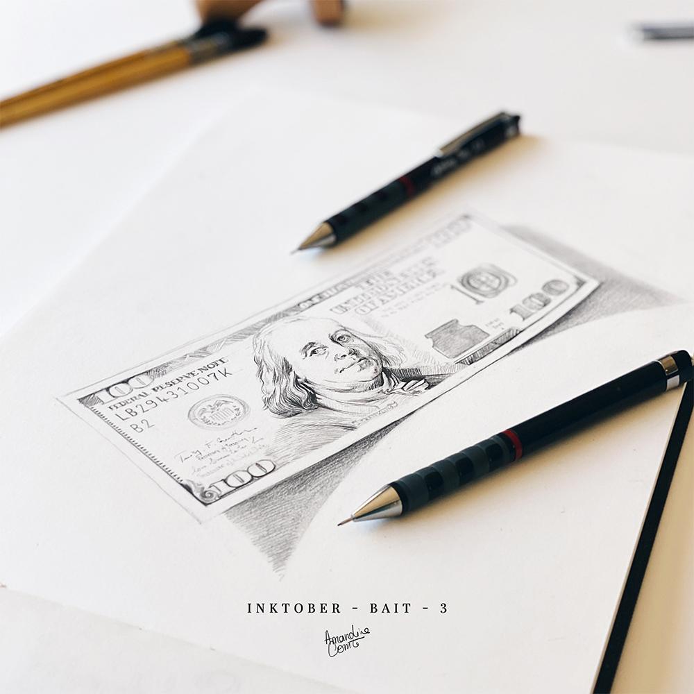 photo d'une illustration d'un billet de 100 dollars