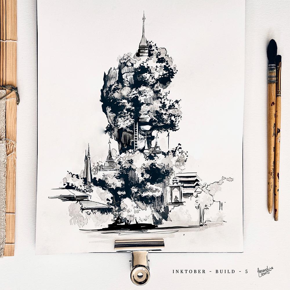 Illustration de la pagode Kyauk Ka Lat Pagoda