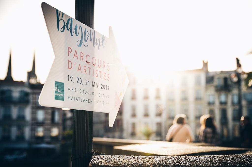 fléchage Parcours d'artiste Bayonne